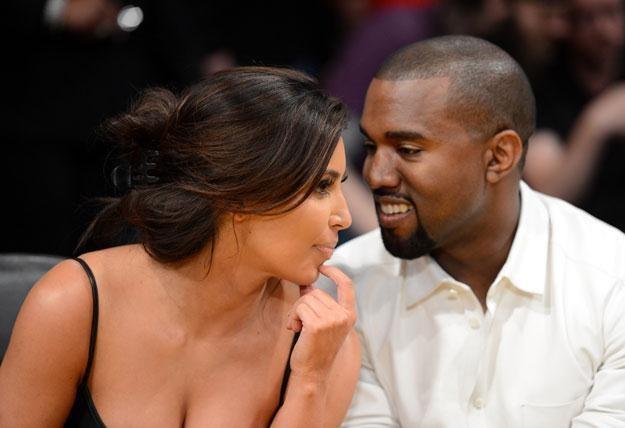 Kim Kardashian i Kanye West nie mogą od siebie oderwać oczu fot. Harry How /Getty Images/Flash Press Media