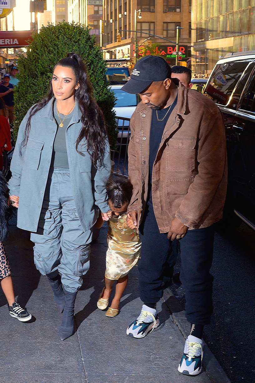 Kim Kardashian i Kanye West z córką /GC Images /Getty Images