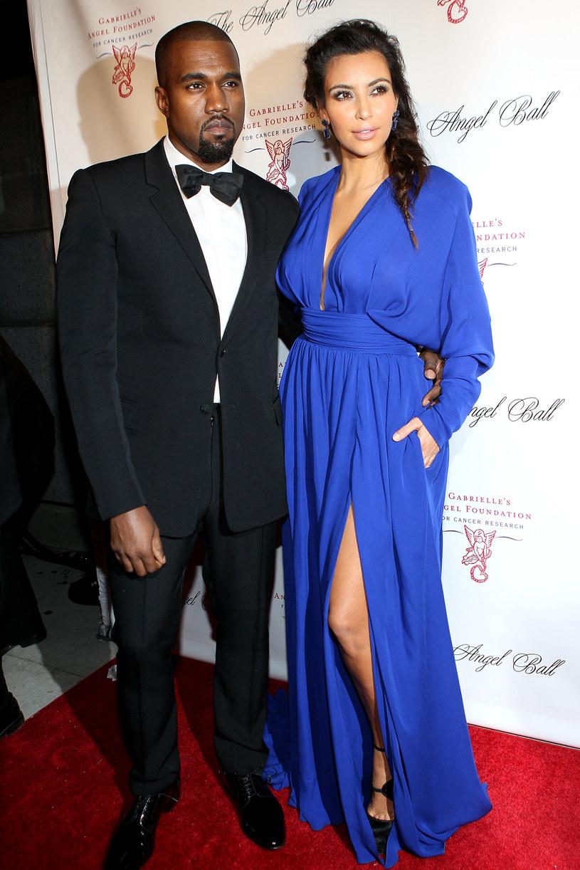 Kim Kardashian i Kanye West /Steve Mack /Getty Images