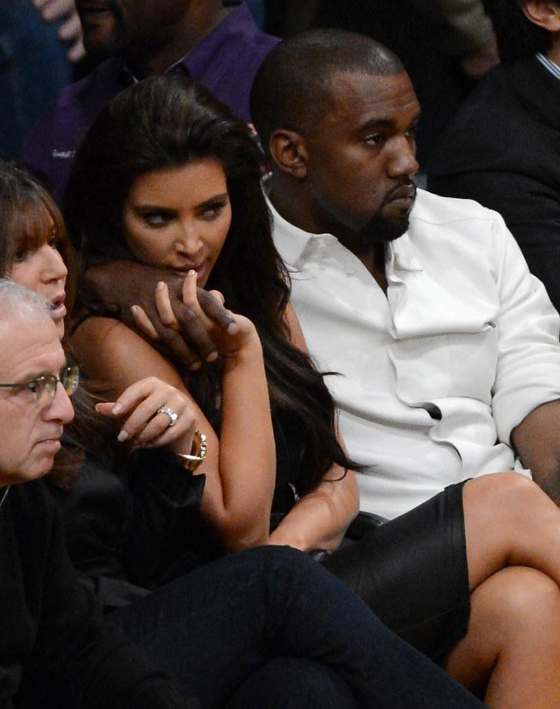 Kim Kardashian i Kanye West /Kevork Djansezian /Getty Images