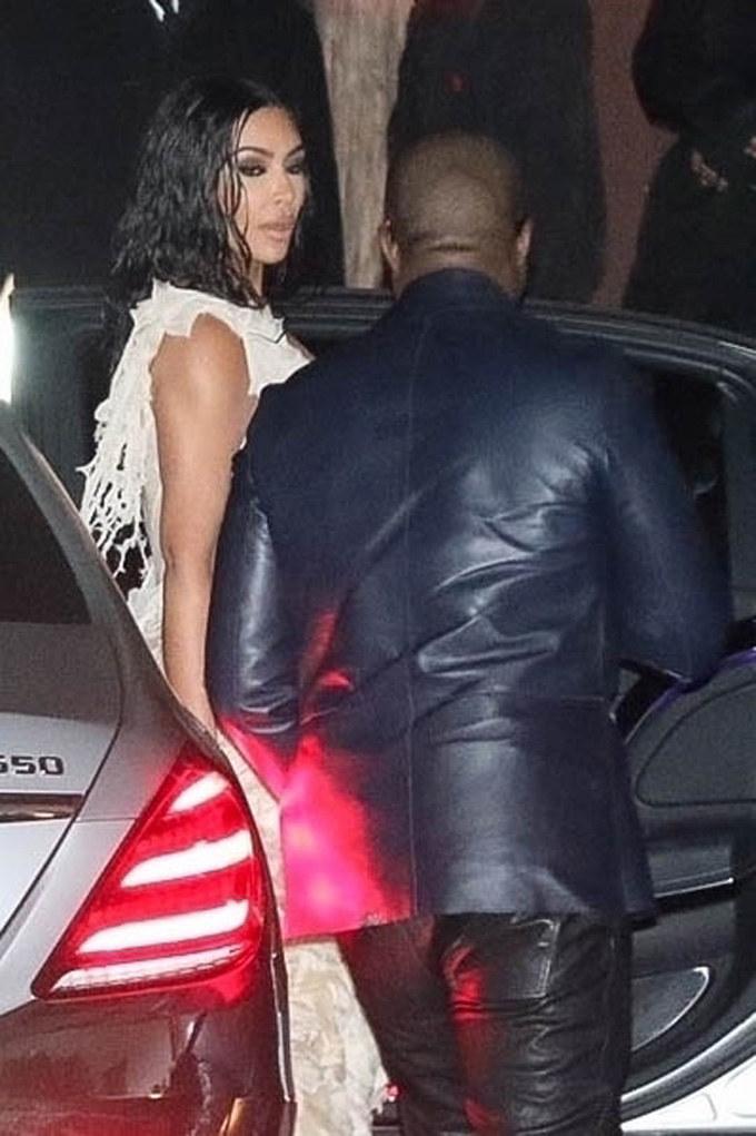 Kim Kardashian i Kanye West /BACKGRID /Agencja FORUM