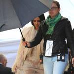 Kim Kardashian na planie zdjęciowyn. Ale strój!