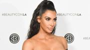 Kim Kardashian w lateksowej sukience