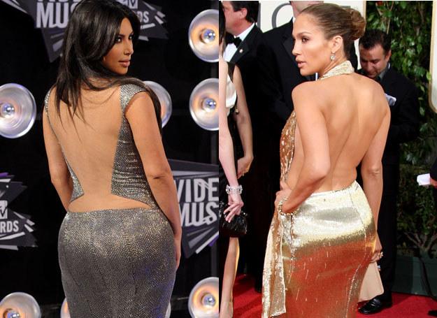 Kim Kardishan i Jennifer Lopez wylansowały modę na wydatne pośladki /Getty Images/Flash Press Media