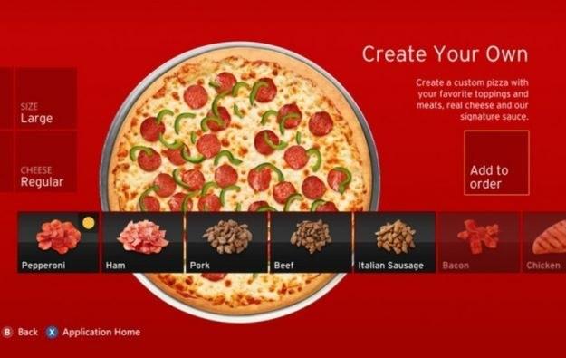 Kinect Pizza Hut /materiały prasowe
