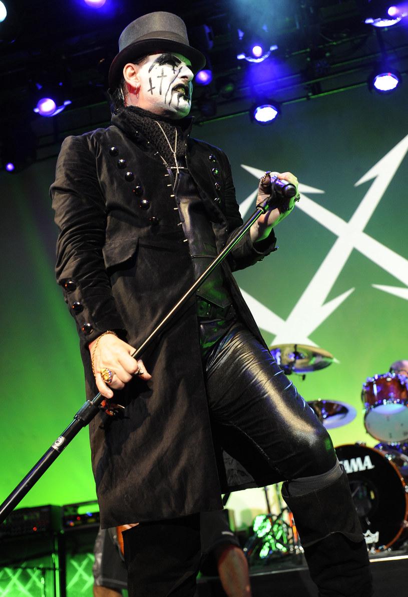 King Diamond na scenie z grupą Metallica w 2011 r. /Tim Mosenfelder/WireImage /Getty Images