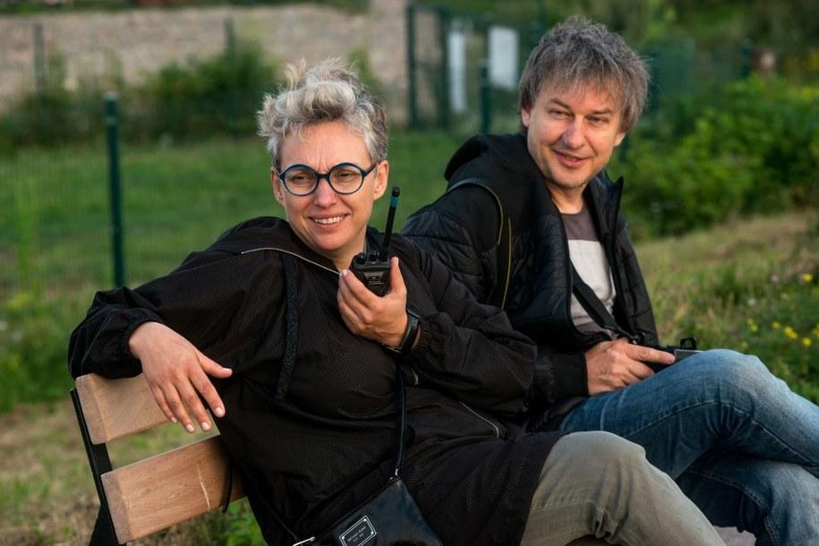 Kinga Dębska na planie filmu /Robert Jaworski / Kino Świat /