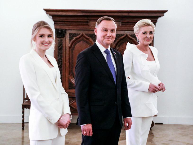 Kinga Duda, Agata Duda i Prezydent Andrzej Duda /Jakub Kaminski/East News /East News