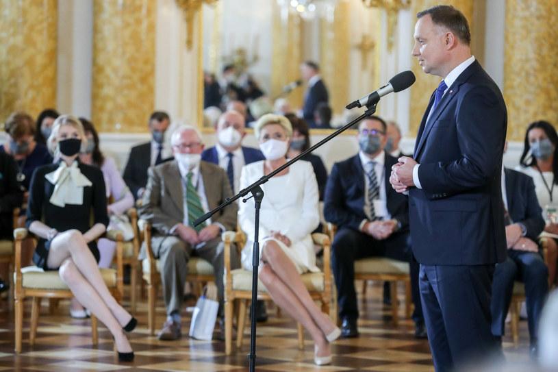 Kinga Duda, Agata Kornhauser-Duda, Andrzej Duda /fot. Andrzej Iwanczuk/REPORTER /Reporter
