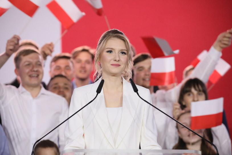 Kinga Duda podczas wieczoru wyborczego prezydenta Andrzeja Dudy w Pułtusku / Leszek Szymański    /PAP