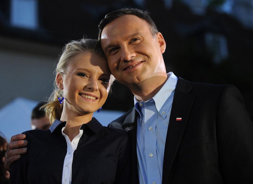 Kinga Duda z Andrzejem Dudą /Adam Chelstowski /Agencja FORUM
