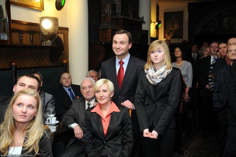 Kinga Duda z rodzicami 2010 r. /- /East News