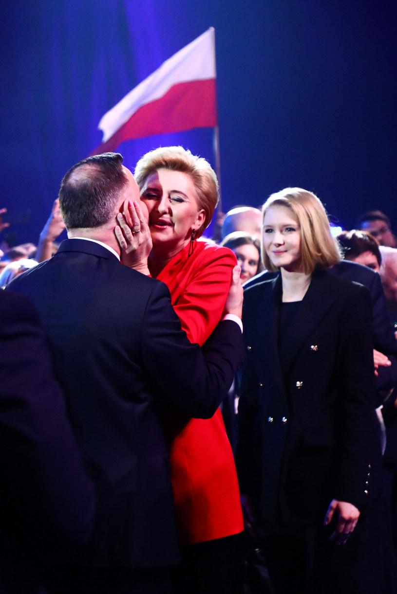 Kinga Duda z rodzicami /Beata Zawrzel /Reporter