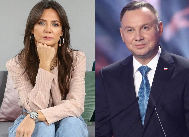 Kinga Rusin, Andrzej Duda, fot. Piotr Molecki /Kamil Piklikiewicz /East News