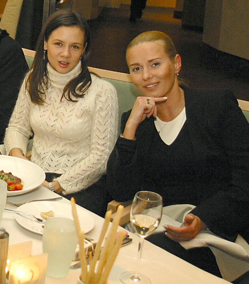 Kinga Rusin i Hanna Lis, zdjęcie archiwalne z 2003 roku /Rafał Maciąga /Agencja FORUM