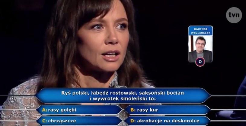 Kinga Rusin i pytanie za milion złotych /TVN