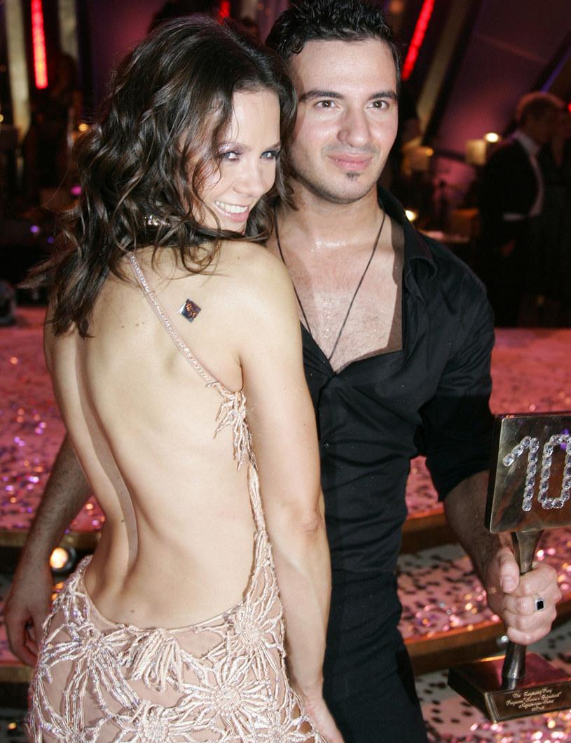 """Kinga Rusin i Stefano Terrazzino w programie """"Taniec z gwiazdami"""" (2007) /AKPA"""