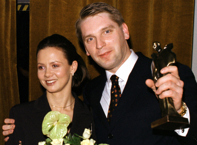 Kinga Rusin i Tomasz Lis (1999 r.) /Adam Chełstowski