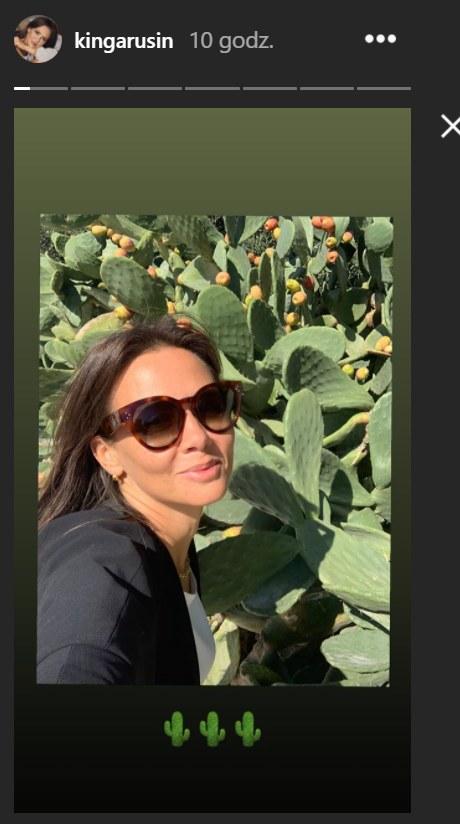 Kinga Rusin podczas egzotycznego urlopu /Instagram/kingarusin