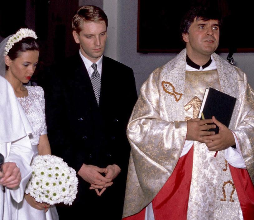 Kinga Rusin, Tomasz Lis i o. Maciej Zięba /Maciej Brzozowski / Studio69 /Agencja FORUM