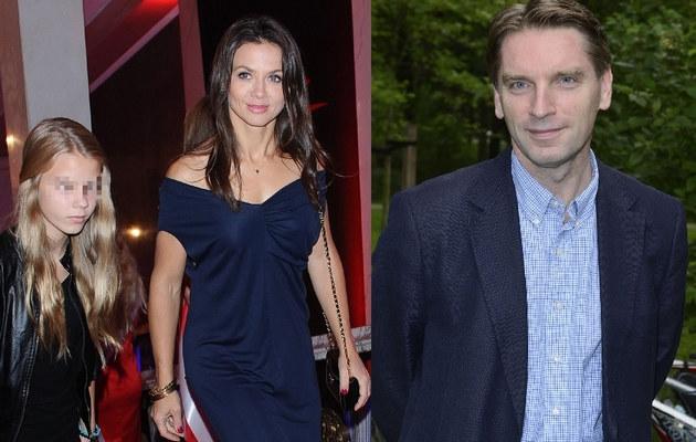 Kinga Rusin z córką i Tomasz Lis /- /MWMedia