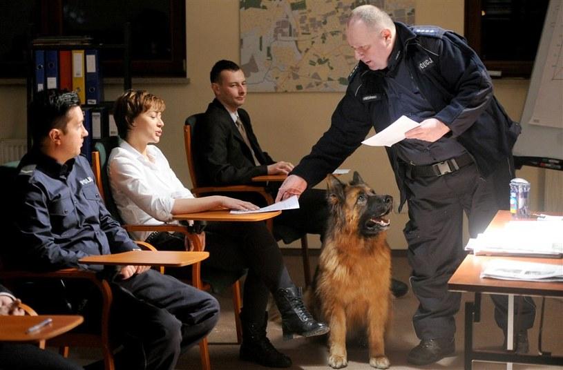 Kingę Iskierkę poznamy podczas egzaminu, jakiemu poddani zostaną policjanci z łódzkiej komendy na zakończenie bardzo ważnego szkolenia. /Agencja W. Impact