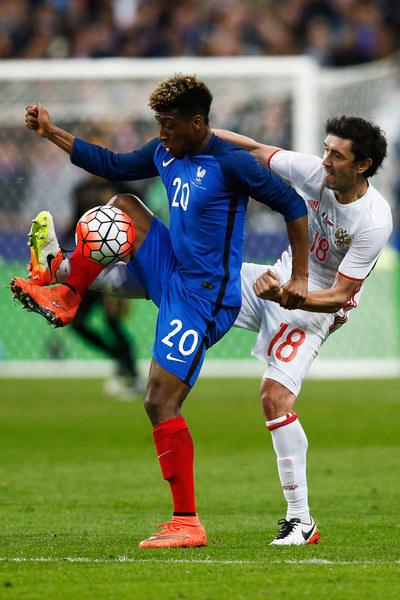 Kingsley Coman (z lewej) /AFP