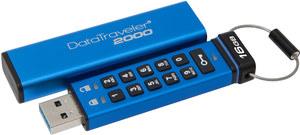 Kingston DataTraveler 2000 - szyfrowany pendrive z klawiaturą alfanumeryczną