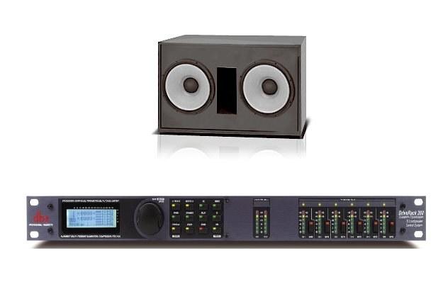 Kinowy subwoofer 4642A oraz procesor sterujący dbx DriveRack 260 /materiały prasowe