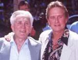 Kirk i Michael Douglas /