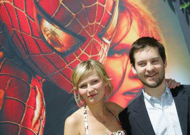 """Kirsten Dunst i Tobey Maguire wystąpią w trzeciej części """"Spider-Mana"""" /AFP"""