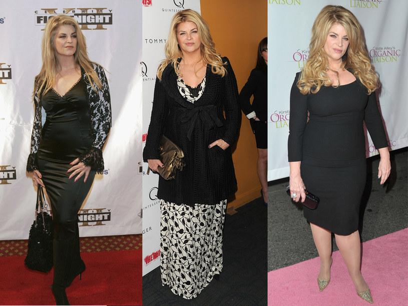 Kirstie już niejednokrotnie chudła, a potem znów przybierała na wadze.  Od lewej: aktorka w marcu 2006 roku, w 2010 roku i obecnie /Getty Images/Flash Press Media