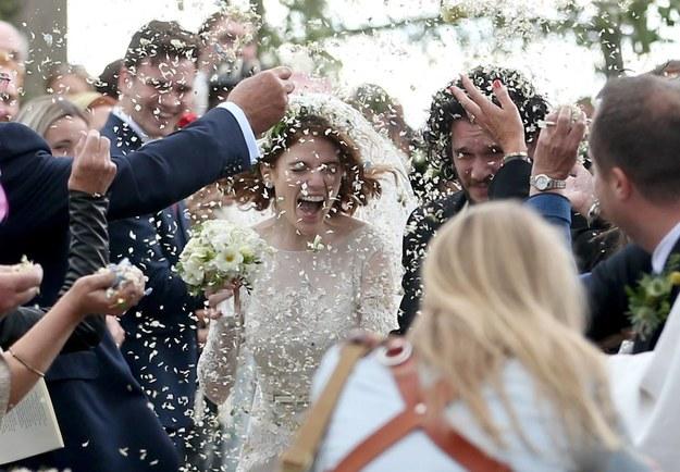 Kit Harington i Rose Leslie wzięli ślub! / Jane Barlow /PAP/EPA