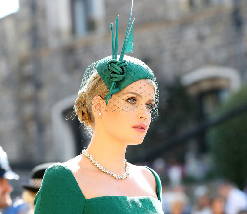 Kitty Spencer na ślubie Meghan i Harry'ego /Gareth Fuller    /East News