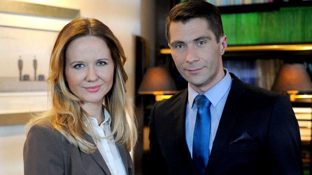"""""""Klan"""": Zyta (Magdalena Stam) i Jan Blumert (Piotr Dąbrowski) /Agencja W. Impact"""
