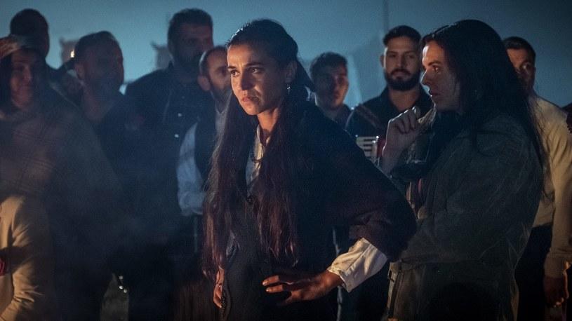 "Klara na planie filmu ""Zenek"" /Robert Palka/Fotos-Art /Agencja FORUM"