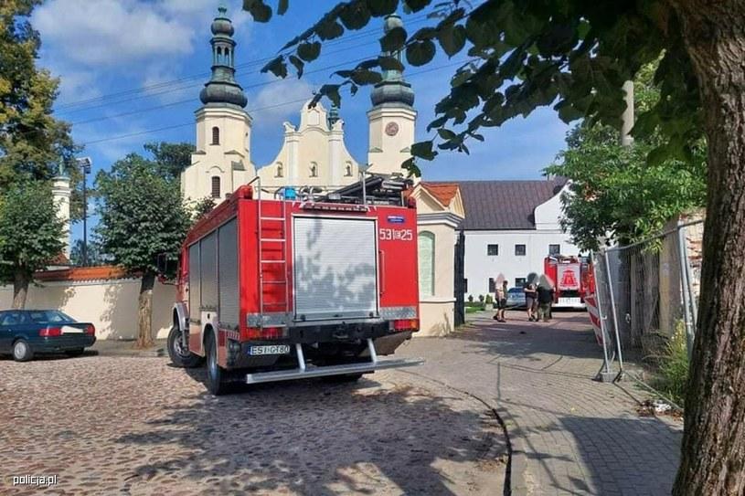 Klasztor w Warcie (Łódzkie) /KWP Łódź /Zdjęcia operacyjne policji