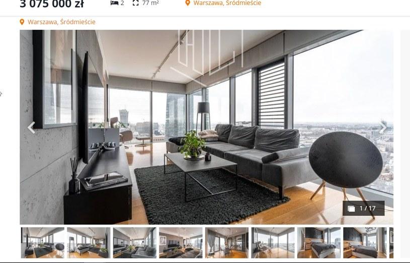 Klaudia Halejcio i jej ukochany sprzedają apartament za 3 miliony złotych (otodom.pl, fot. hryb.pl) /materiał zewnętrzny