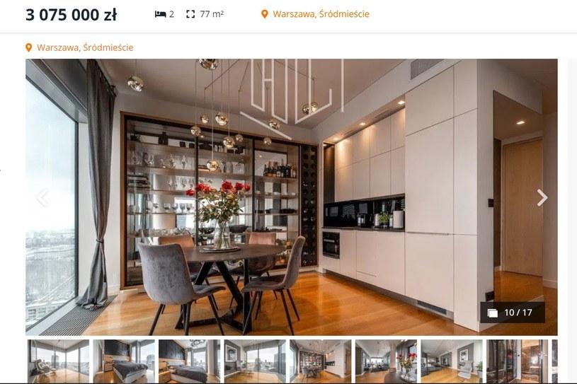 Klaudia Halejcio i jej ukochany sprzedają apartament za 3 miliony złotych (otodom.pl, fot. hryb.pl)