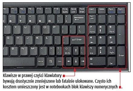 Klawiatura w notebooku prezentuje się zazwyczaj inaczej, niż ta znana z komputerów stacjonarnych. /PC Format
