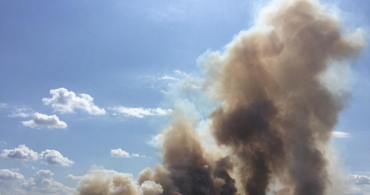 Kłęby dymu nad Wrocławiem