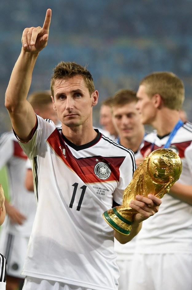 Klose w 137 meczach w reprezentacji Niemiec strzelił 71 goli /MARCUS BRANDT /PAP/EPA