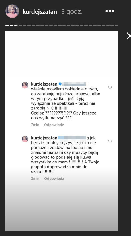 Kłótnia Basi Kurdej-Szatan /Instagram/@kurdejszatan  /Instagram