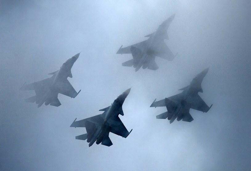 Klucz myśliwców Su-30, zdj. ilustracyjne /MAKSIM BLINOV /East News