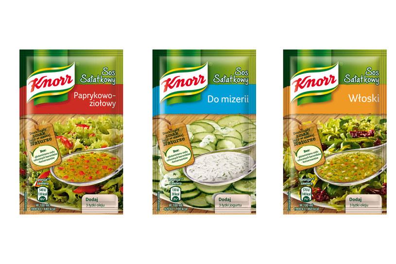 Knorr: Sosy sałatkowe /materiały prasowe