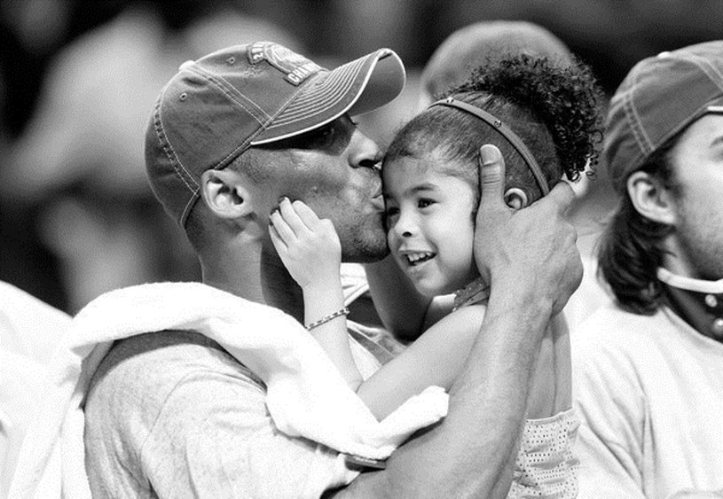 Kobe Bryant i jego córka Gianna /AFP