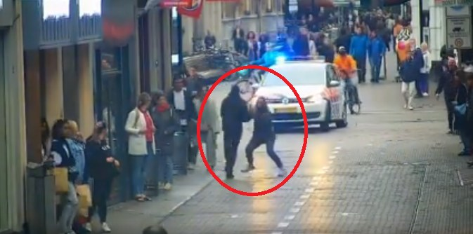 Kobieta pomogła zatrzymać uciekiniera /Politie Basisteam Jan Hendrikstraat /facebook.com
