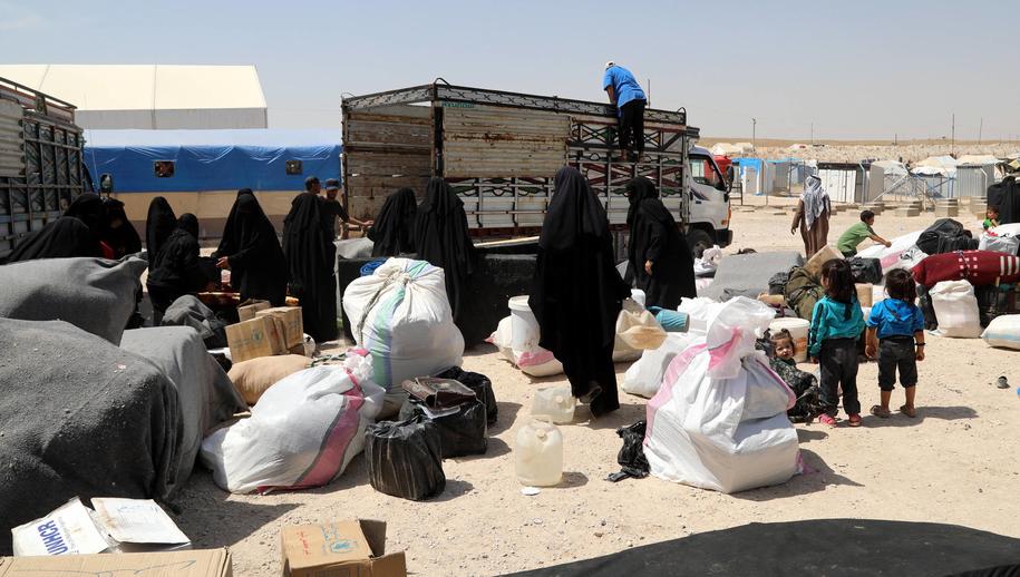 Kobieta przebywa w obozie dla uchodźców Al-Hol w Syrii (zdj. ilustracyjne) /AHMED MARDNLI /PAP/EPA