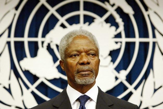 Kofi Annan /JASON SZENES    /PAP/EPA