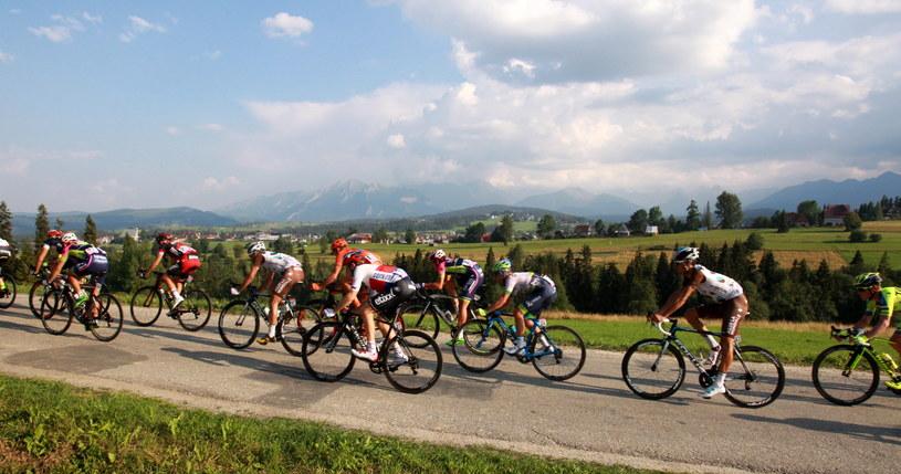 Kolarze na trasie Tour de Pologne /Grzegorz Momot /PAP